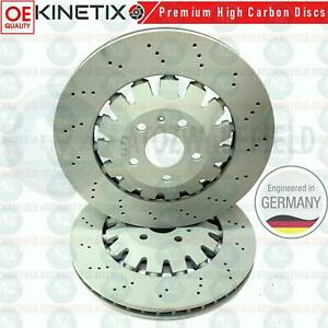 2X FRONT AUDI TTRS 370X32mm FRONT PUNCHED DRILLED BRAKE DISCS 8J0615301K