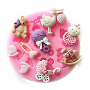Baby Shower Silicone Fondant Mould Baking Cake Decor Sugar Craft Chocolate Mold