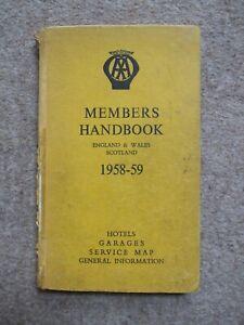 AA - members Handbook - 1958-59