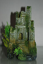 Stunning Detailed Aquarium Castle Ruin Decoration 12 x 12 x 22 cms