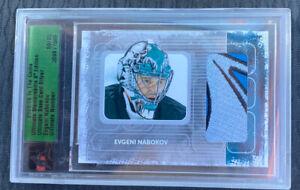 Evgeni Nabokov 08/09 Ultimate Memorabilia /90 ITG Sharks 10th Anniversary Patch