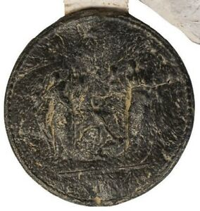 A large George III Great Royal Wax Seal,1799, From Manuscript with paper tag