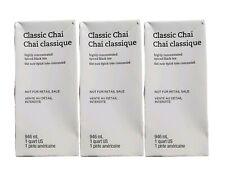 Starbucks (3 Pack) Classic Chai Concentrate Spiced Black Teas Lattes 1QT 10/2020