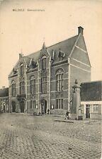 Schaarse Oude Postkaart met zicht op het Gemeentehuis te BELSELE in 1927 (PK383)