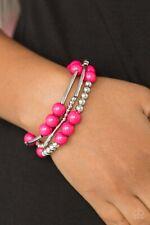Paparazzi New Adventures - Pink Bracelet