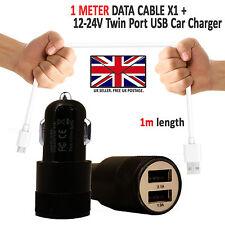 2 en 1 Cargador de coche USB & carga rápida cable para Samsung Galaxy TELÉFONOS