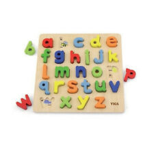 High Quality Kids Learning Toys Viga Wooden Block Puzzle Alphabet Lower Case