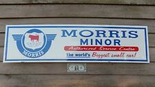 NEW! '50s-60s STYLE MORRIS MINOR AUTO 1'X46'' METAL SIGN/AD EARLY LOGO/GARAGEART