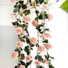 180cm Silk Rose for Wedding Home Decoration Artificial Faux Flowers Pink