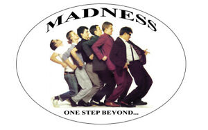 MADNESS ONE STEP BEYOND METAL SIGNS ARCHED SIGN RETRO MAN CAVE SIGN XMAS GIFT