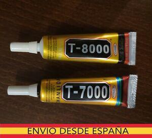 T7000 T8000   PEGAMENTO LCD TOUCH TELEFONOS REPARACION 15ML  NEGRO Y TRASPARENTE