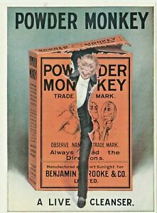 Chromo Poster advert A5 size  c1908  Monkey Brand - 'A Live Cleanser' (Ad73)