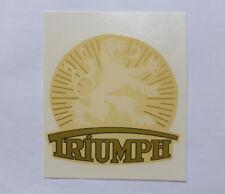 TRIUMPH DROITE inscription décalque décalcomanie à eau 00302t 79x77 mm, or