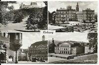 Ansichtskarte Coburg - Landestheater-Veste Coburg-Rathaus-Schloß Ehrenburg- s/w
