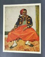 "Van Gogh ""The Zouave ""  Mounted Offset Color Lithograph 1950"