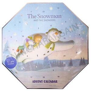 1 x THE SNOWMAN & SNOWDOG SCENTED ADVENT CALENDAR 24 TEA LIGHT CANDLE + 1 HOLDER