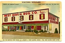 West Haven Rug Company Building-New Haven Connecticut-Advertising Postcard