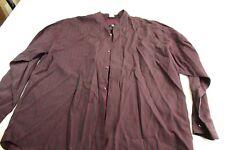 479a9493d IM International Male Deep Purple Satin Collarless Shirt XL 17.5 x 36/37
