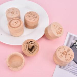 Wedding Wooden Ring Box Holder Wedding Valentine Anniversary Ring Bearer `AU