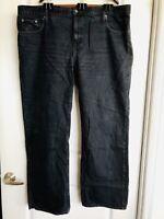Old Navy Black Denim Jeans Straight Leg 46W 34L Men's