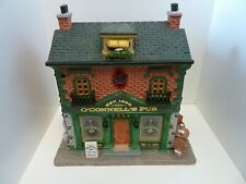 Lemax Porcelain Lighted Building O'Connells Pub - Battery Operated NEW & DAMAGED