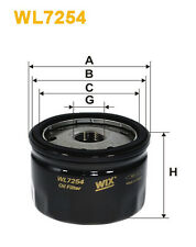WIX WL7254 Car Oil Filter - Spin-On Replaces W752 PH11440 AW177