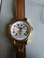 Vintage Disney Mickey Mouse Lorus Quartz Musical Watch Made in JAPAN