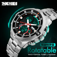 SKMEI Men's Watch Army Military Digital Analog Quartz Date LED Sport Wristwatch