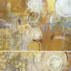 """40W""""x30H"""" RE-SOURCE by J.B. HALL CIRCULAR WARM COLORED CANVAS"""