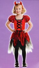 New Girls Size M/5-6 SASSY DEVIL Velvet Dress Halloween Costume Play Set