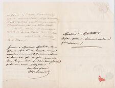 De Tourolles. Jarrige de La Morelie  Signatures pour Turpin. 1840.