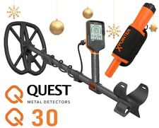 Quest Q 30  Metalldetektor + Xpointer (Pinpointer)Orange Weihnachts angebot