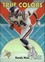 1999 Stadium Club Chrome True Colors Refractors Football Card #14 Randy Moss