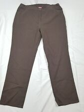 Woman Within Tall Brown Straight Leg Jeans Size 24 T 5 Pockets