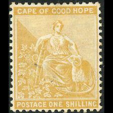 Cabo de Buena Esperanza. 1893-98 1s amarillo ocre. SG 67. ligeramente con bisagras de menta. (AT637)