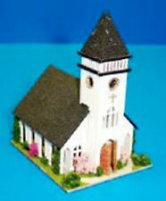 Dollhouse Miniature Country Church Kit -- 1:144 Scale