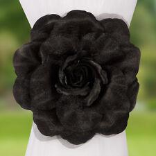 Clip-On Rose Flower Tie Backs / Holdbacks For Voile & Net Curtain Panels