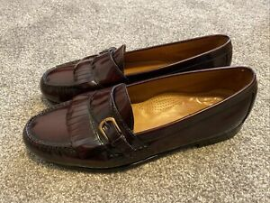Cole Haan C03516 Burgundy Slip On Moc Kiltie Buckle Pinch Loafer Men's Sz 12