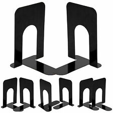 """4 Pairs 8"""" Heavy Duty Metal Bookends Book ends Home Office Supplies Stationery"""