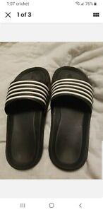 Flip Flops Slides Sandals Black & White Striped Boys