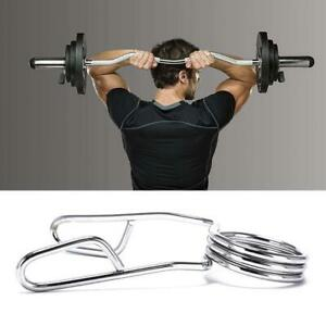 2 inch Olympic Spring Collars Weight Barbell Bar Hole Dumbbell  Steel  Clips