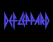 Def Leppard unique and cool steel sign Iconic British Rock band logo