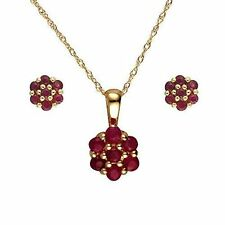 Ruby Yellow Gold Fine Jewellery Sets