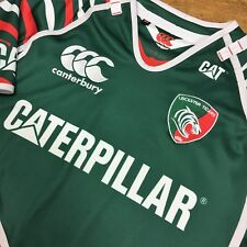 Canterbury Leicester Tigers Vintage Ajustée Rugby Union Shirt 2012/13 Small