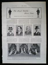ROYAL DUBLIN SOCIETY HORSE SHOW ARTHUR GUINNESS BARON ARDILAUN 2pp ARTICLE 1900