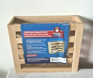 Solid Oak Magazine Rack / Wooden Magazine Rack with Natural Finish Wall Mounted