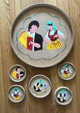 Mr. Cork Tray & Coasters Set, 1 Bottle & 4 Glasses Coasters, Lisbon