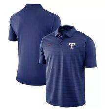 Nike Texas Rangers Baseball Dri Fit Polo Shirt Blue $70 Men's Size Large