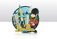 London Tower Bridge Big Ben Guard Great Britain Souvenir Rubber Magnet