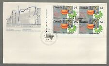 1987 Canada Cogwheel Engineering Institute Plate Block FDC. First day Cover